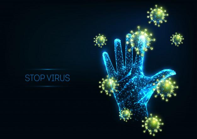 virus-detencion-futurista-celulas-virus-poligonales-brillantes-mano-humana-levantada_67515-860